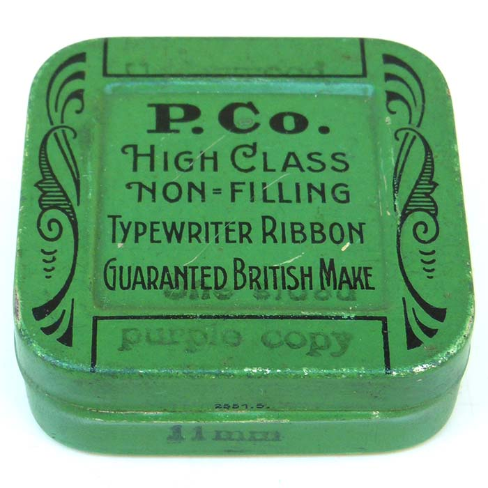 P.Co, Farbband Dose / typewriter ribbon