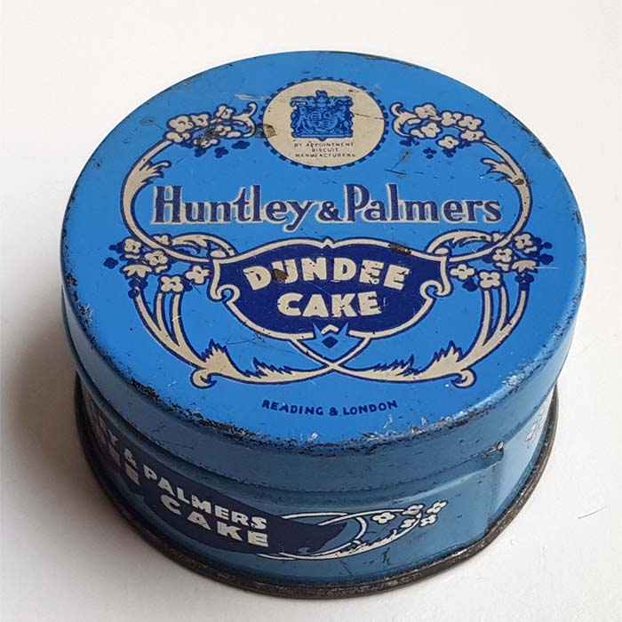 Huntley & Palmer, Dundee Cake, Probendose, 1933